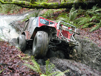 Carl Jantz Jeep in the mud