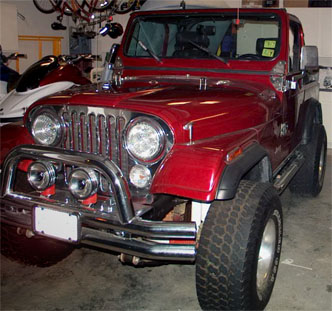 Bill Ruff Teel's jeep
